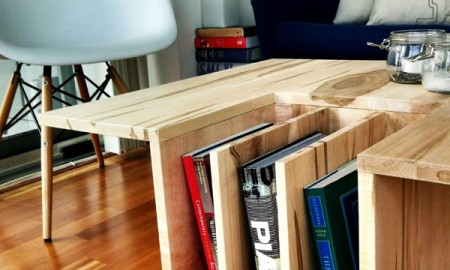 Unique book shelf wooden storage