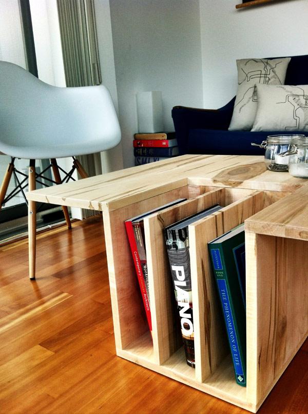 Unique book shelf wooden storage