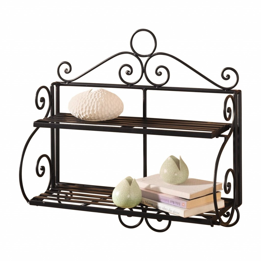 Wall shelf vintage metal mosaic interior design in vintage and Shabby Chic