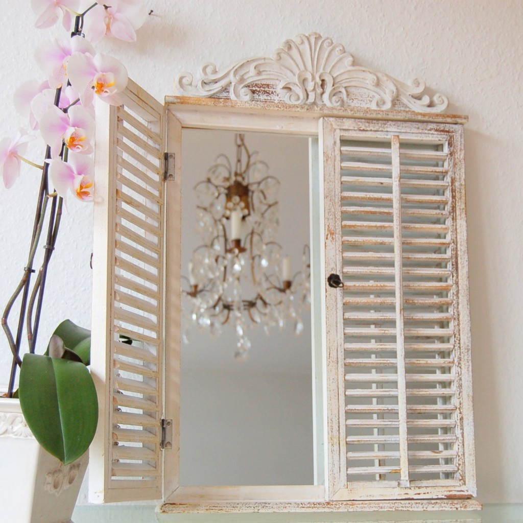 Window frame vintage floral interior design in vintage and Shabby Chic