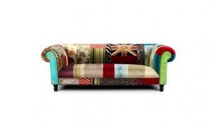 Handdekorierte furniture in the style of mid century modern