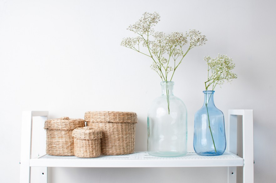 Shelves and Storage boxes scandinavian style vases