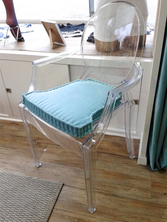 Blue Seat cushion Ghost Chair Modern chair cushion