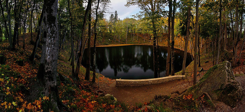 Kaali-Meteorite-Crater-Estonia-woods-beautiful-landscape