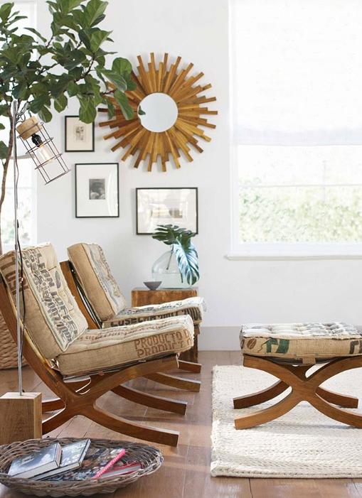 Midcentury furnishing modern-chair cushions