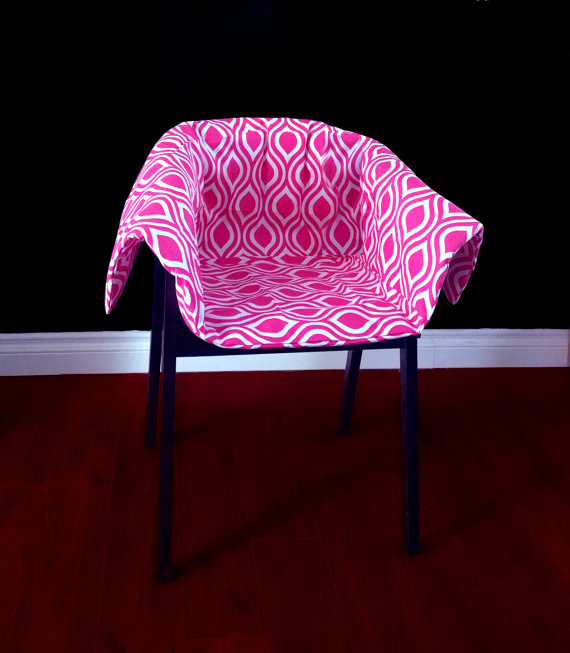 Modern chair cushion in pink-chair cushion
