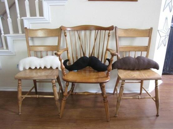Moustache Pillow Deco Ideas-chair cushion
