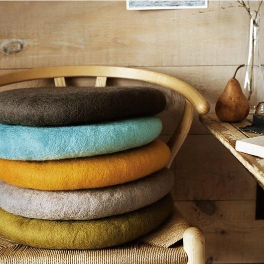 Vintage felt pillow-chair cushion