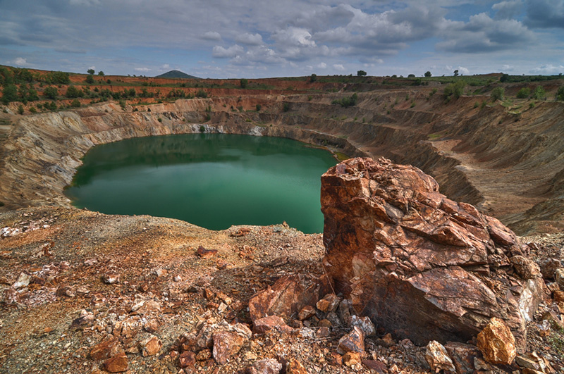 Cosmic-Desert-Landscape-In-Bulgaria-old-ore-pit-interesting-tourist-destination