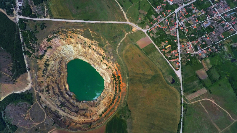 Cosmic-Desert-Pit-In-Bulgaria-drone-[icture-beautiful-landscape-from-air-turist-destination