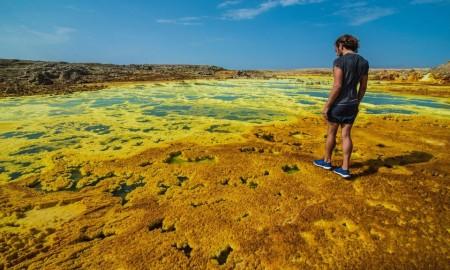 Dallol, Ethiopia highest temperatures on earth dry heat desert