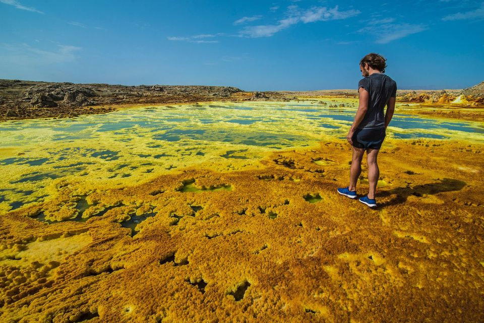 Dallol, Ethiopia highest temperatures on earth dry heat desert