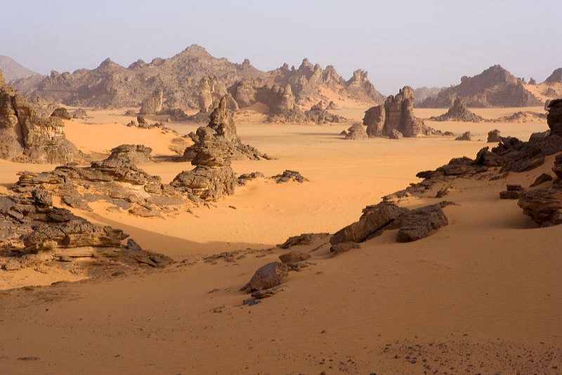 El Azizia, Libya desert the highest temperature on earth rocks heat sun