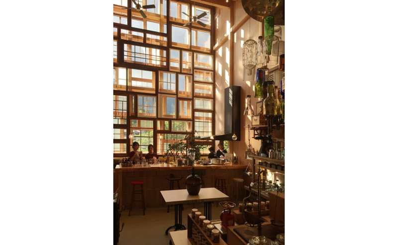 Kamikatz-Public-House-zero-waste-building-from-recycled-garbage-facade-Japan-town-Kamikatsu-bar