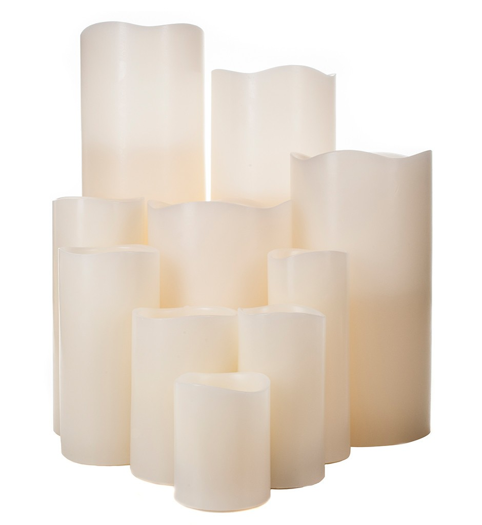 LED candles in ivory-flameless candles