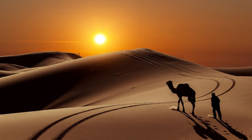 Loot Desert, Iran highest temperature on earth camel sunset desert tourist