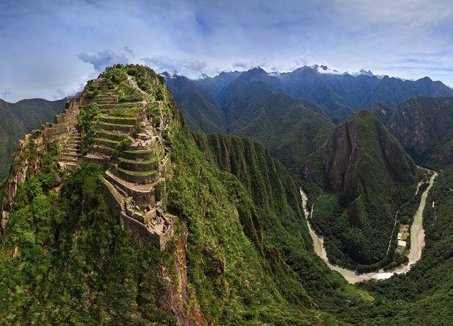Peru's Inca Trail Amazing Route Mountains Green Landscape View from above