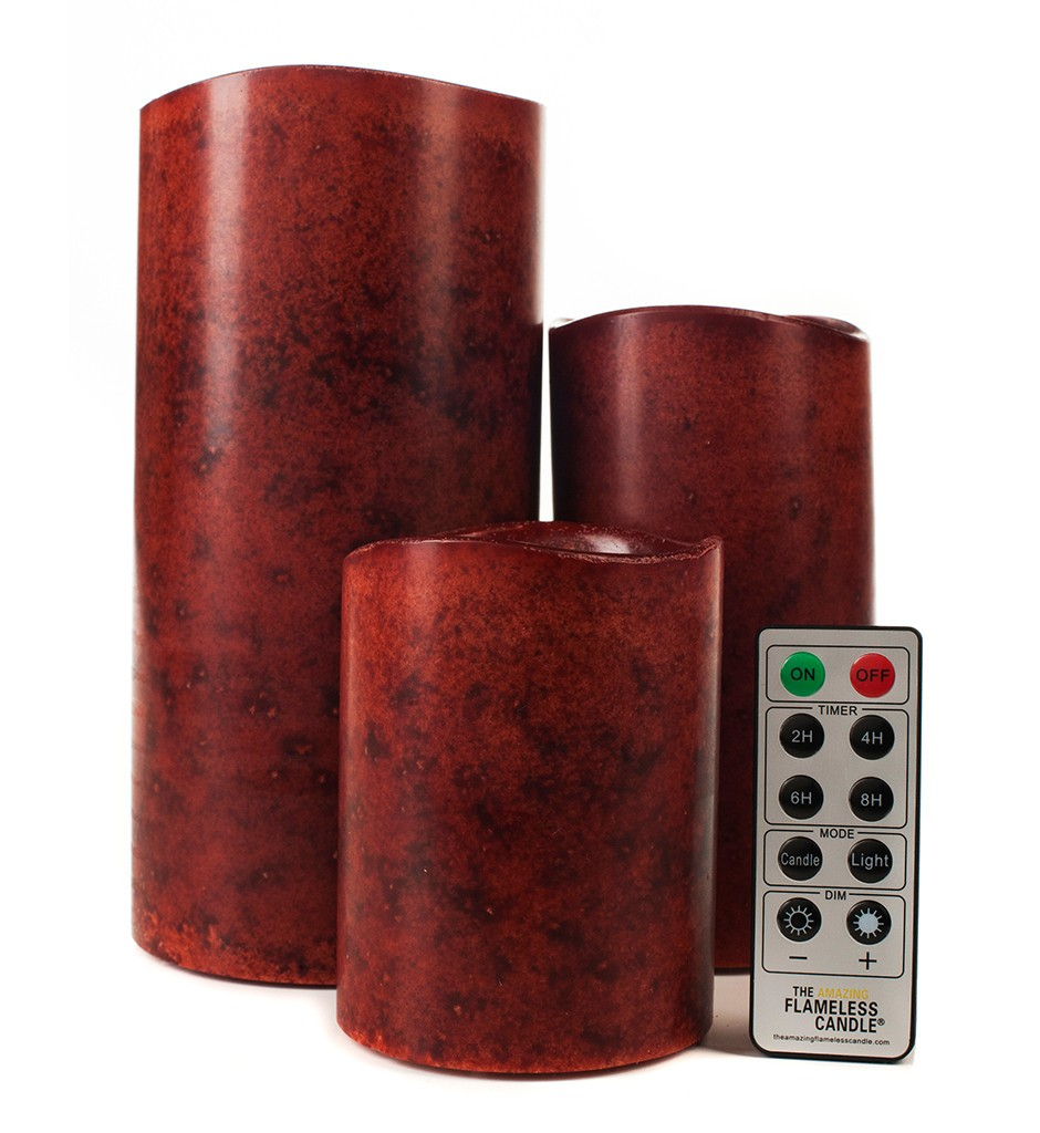 Red candles with remote control-flameless Candles