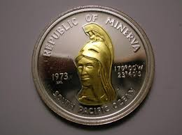 The Republic Of Minerva golden coin micronations most famous small countries