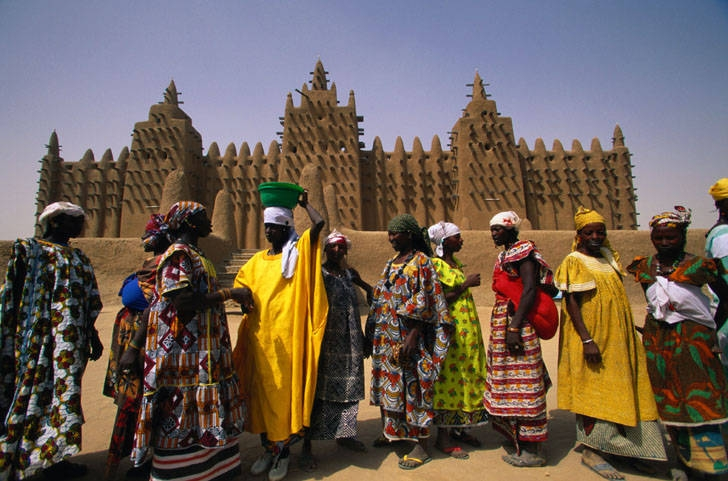 Timbuktu, Mali highest temperatures on earth heat dry desert women traditional clothes