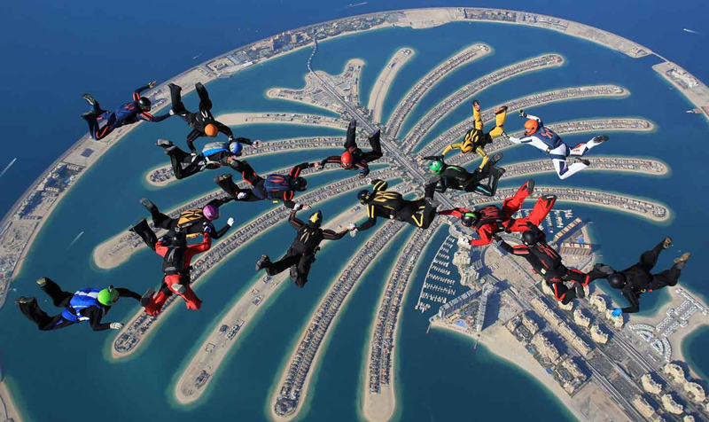 Palm-Islands-six-artificial-islands-parachute-jump-above-seaside-in-dubaj-beautiful-view-sky-diving