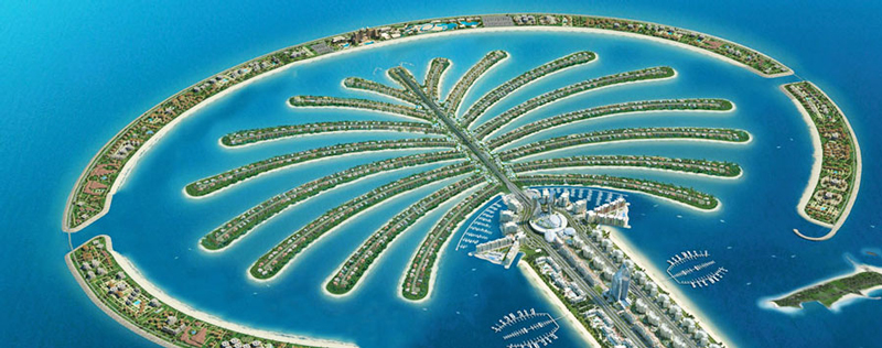 The-Palm-Islands-Dubai-view-from-air-artificial-islands
