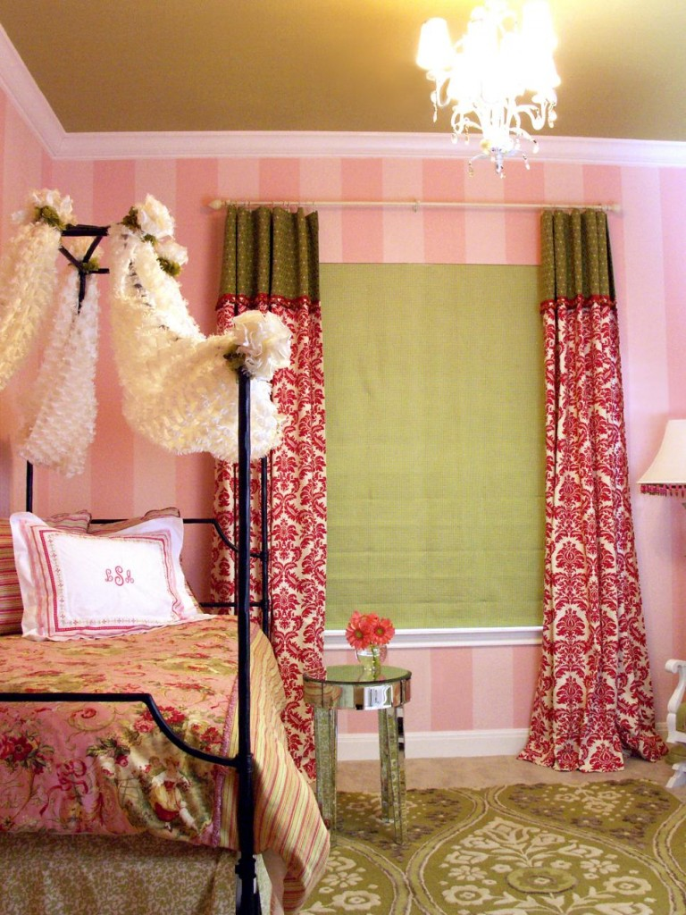 10-bedroom in pink in French style-Youth bedroom Girl