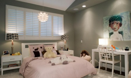 2-Simple design in pink and grey-youth bedroom Girls
