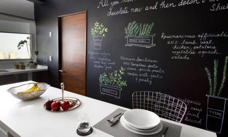 Concept kitchen modern style white Tafelwand kitchen table furnishing modern kitchen ideas