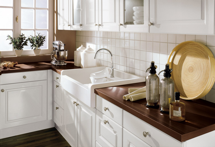 Cottage White Brown marble mdf worktops Washstand kitchen ideas