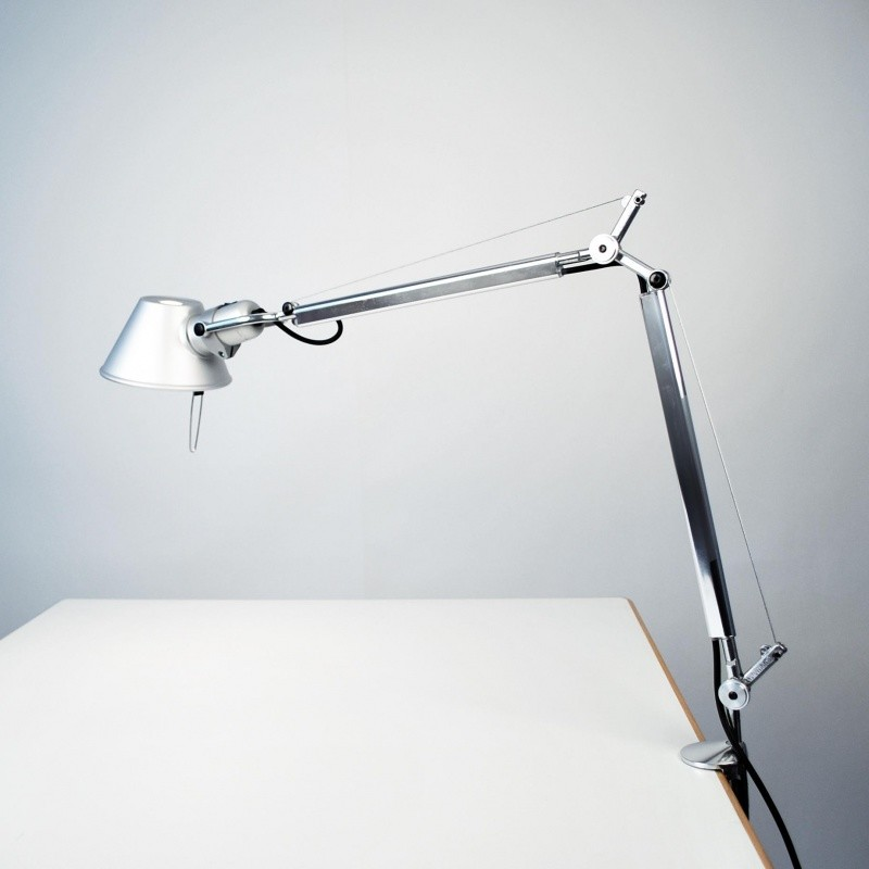 Original elegantly slim working table lamp bracket metal-modern lamps