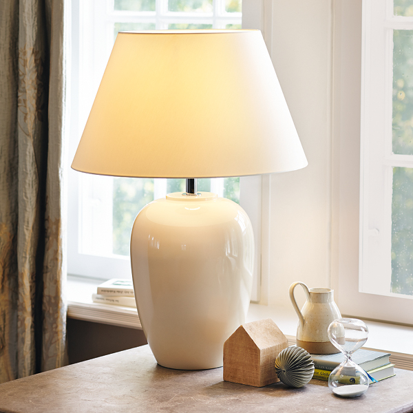 Table Lamps Design white high-gloss modern lamps