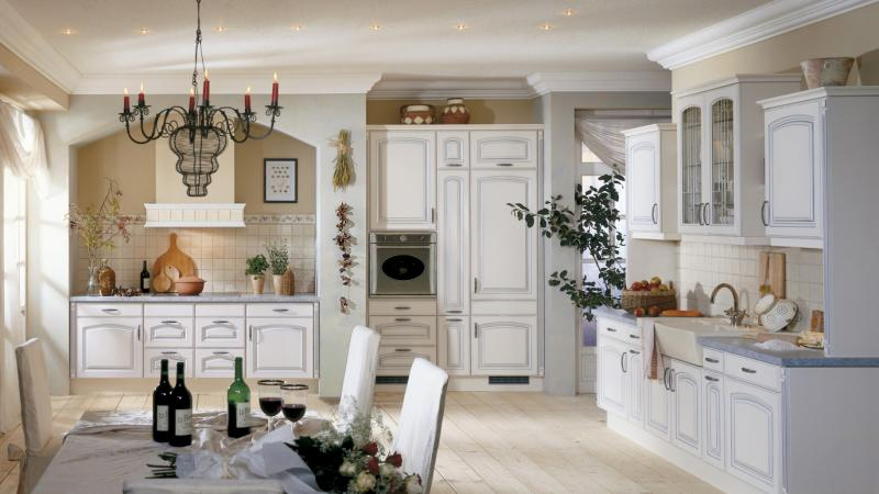 White French country house kitchen recessed Spotlight candle kitchen system-Kitchen ideas