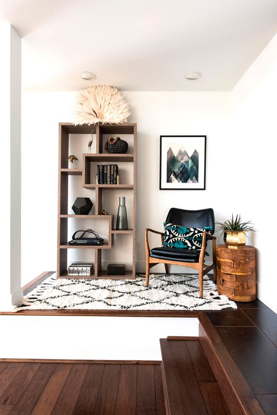 brazilian style reading nook comfortable black chair nook ideas