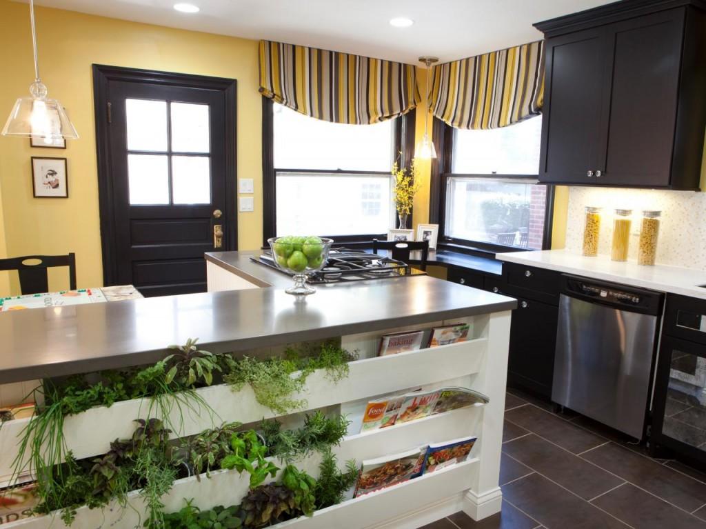 So Many Ways To Go Green Even The Kitchen Island: Indoor Herbs Garden Ideas