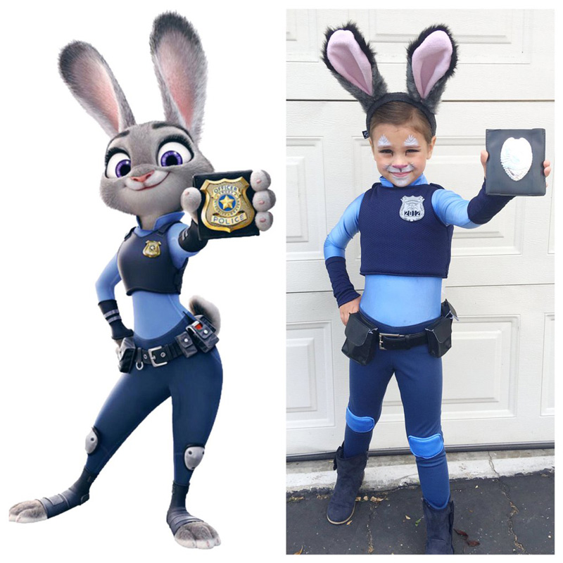 Disney-Zootopia-Halloween-Kids-Costumes-Girl-Bunny-Costume-Cute-Policeman