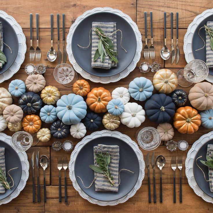 Fall Warm Colors Table Pumpkins Fall Table Decorations Autumn Table  Decorations Easy Thanksgiving Centerpieces Fall Décor