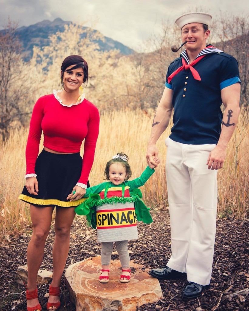 Halloween Family Costumes Popeye the Sailor Halloween costume ideas Costume ideas Baby Halloween costumes Halloween ideas Superhero costumes Skeleton costumes