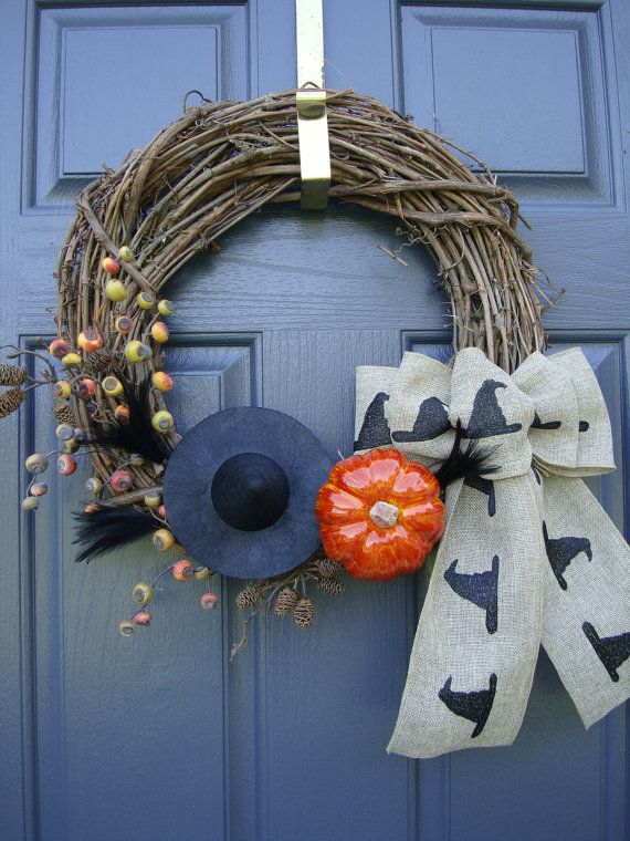 Halloween door pumpkin decoration wreaths