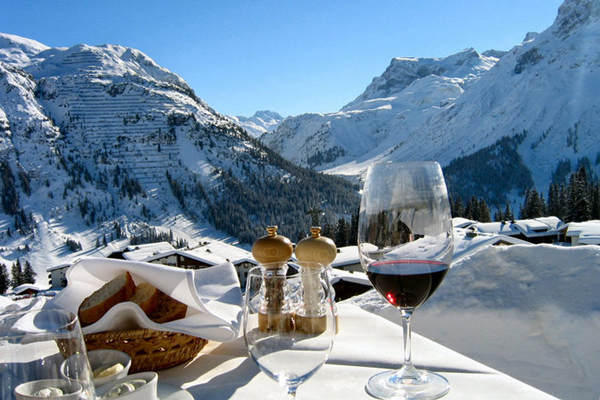 Lech,-Austria-view-from-restorant-red-wine-ski-holidays-skiing-resorts-ski-vacations-last-minute-ski-deals-ski-package-deals-all-inclusive-ski-holidays-best-family-ski-resorts