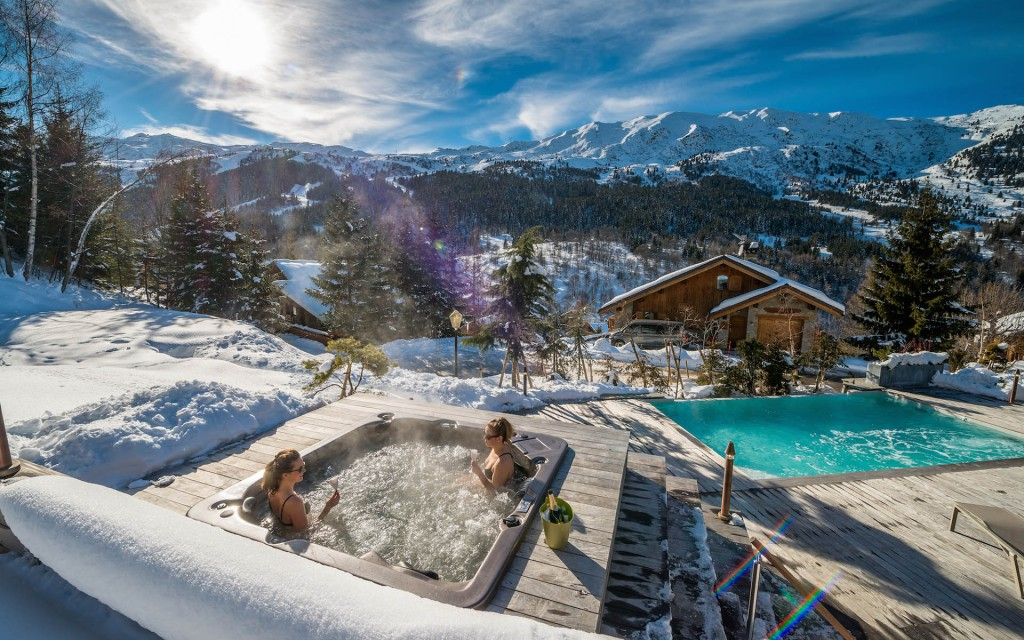 Maribel France Chalet Jacuzzi Holiday Wintertime ski holidays skiing resorts ski vacations last minute ski deals ski package deals all inclusive ski holidays best family ski resorts