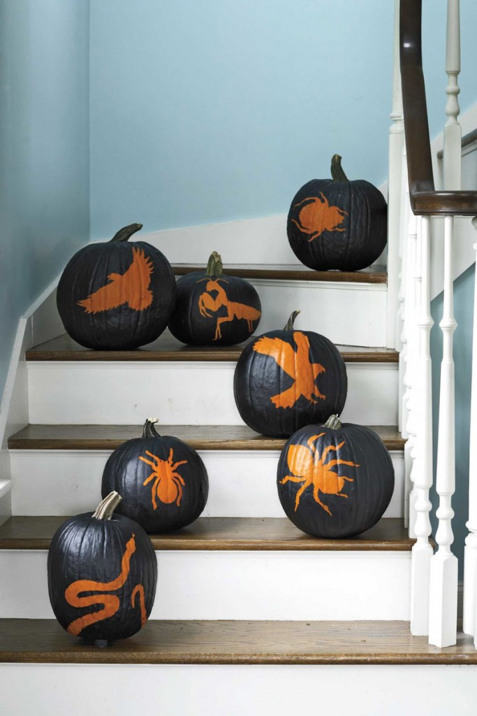 Painted-Insects-Halloween-Pumpkins-Halloween-lights-outside-halloween-decorations-diy-halloween-decorations-best-halloween-decorations--halloween-yard-decorations-vintage-halloween-decorations