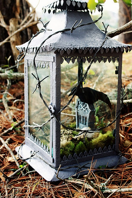 Raven Halloween Lantern Vintage Diy Lantern Halloween Decoration Ideas