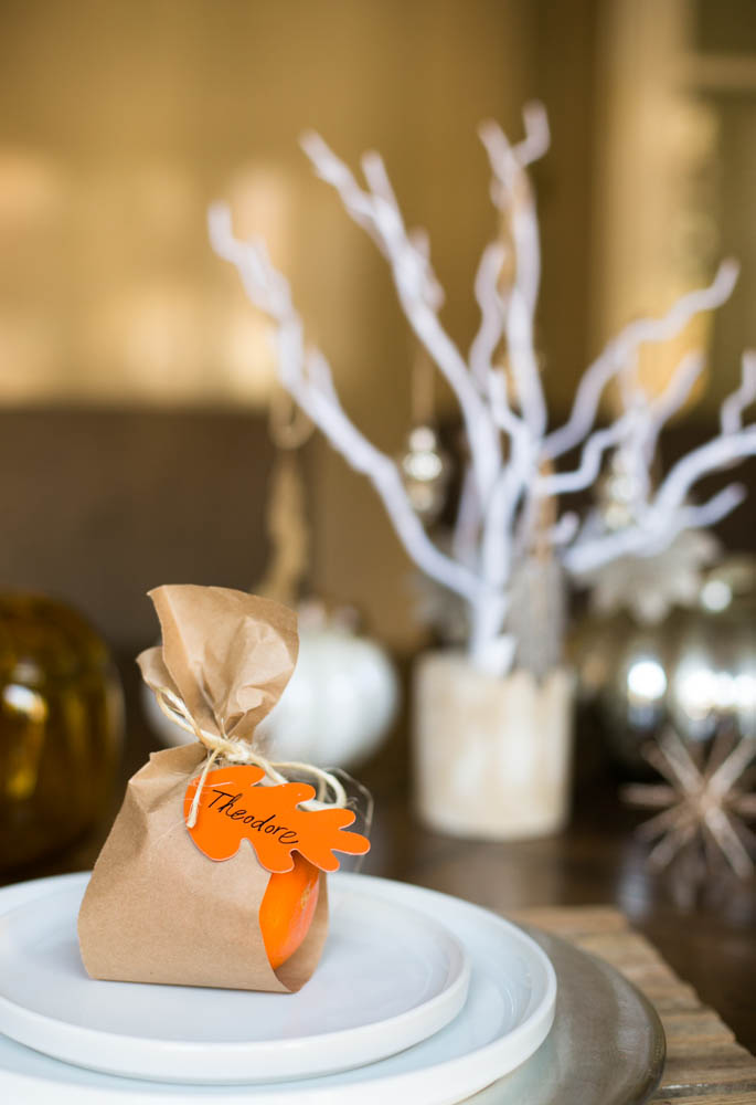 Table Orange Wrap Card Gift fall table decorations autumn table decorations easy thanksgiving centerpieces fall décor simple inexpensive fall table decorations fall table settings
