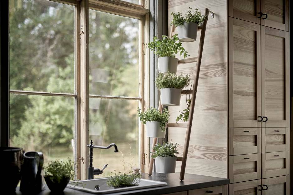Wooden Kitchen HomeGrowing Herbs Kitchen growing herbs indoors herb garden window herb garden kitchen herb garden growing herbs herb planter indoor