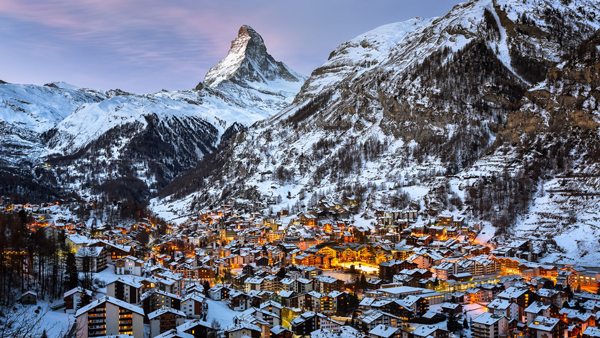 Zermatt,-Switzerland-Ski-Resort-by-night-ski-holidays-skiing-resorts-ski-vacations-last-minute-ski-deals-ski-package-deals-all-inclusive-ski-holidays-best-family-ski-resorts