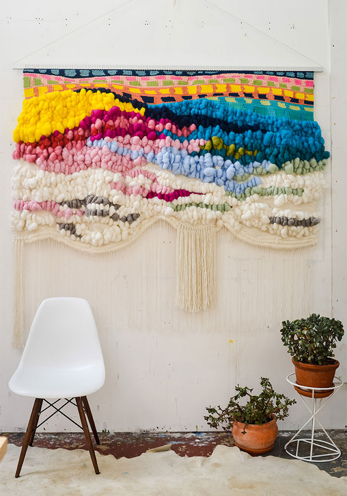 Colorful-Knitted-Wall-Hanging-crochet-home-décor-knitted-decorations-knitted-home-decor-crochet-wall-art-knitted-wall-hanging