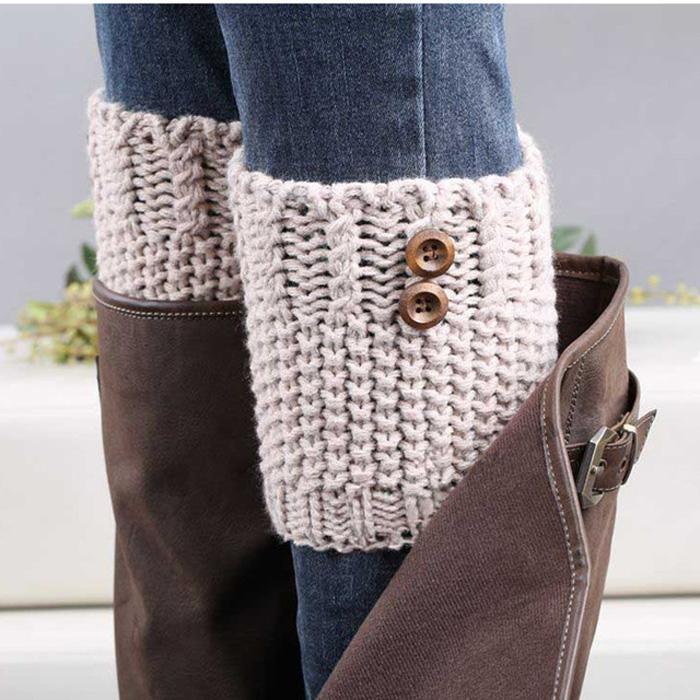 Crochet-Leg-Warmers-Winter-Fall-Knit-Boot-Cuffs-Socks-Boot-Warmers