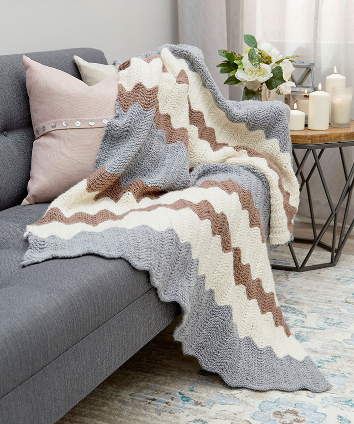 Knitted-Home-Decor-Knitted-Chevron-Sofa-Throw-crochet-home-décor-knitted-decorations-knitted-home-decor-crochet