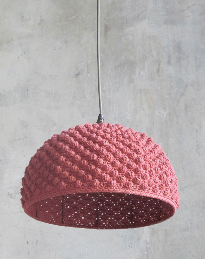Knitted-Pink-Hanging-Lamp-crochet-home-décor-knitted-decorations-knitted-home-decor-crochet